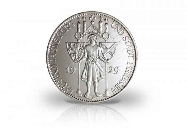 5 Reichsmark Silbermünze 1929 Weimarer Republik 1000 Jahre Burg Meißen Jaeger-Nr. 339