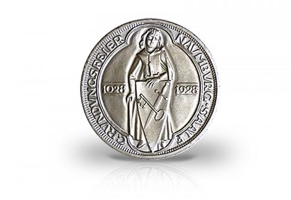 3 Reichsmark Silbermünze 1928 Weimarer Republik Naumburg an der Saale Jaeger-Nr. 333