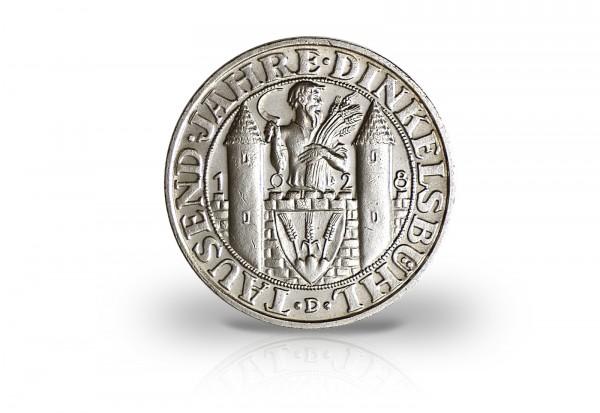 3 Reichsmark 1928 Weimarer Republik 1000 Jahre Dinkelsbühl Jaeger-Nr. 334