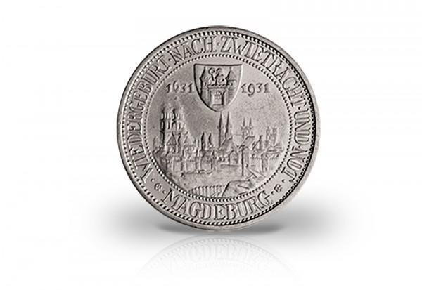 3 Reichsmark 1931 Weimarer Republik Brand von Magdeburg Jaeger-Nr. 347