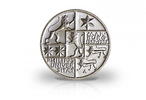 3 Reichsmark Silbermünze 1927 Weimarer Republik Uni Marburg Jaeger-Nr. 330