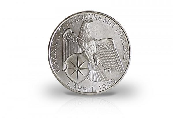 3 Reichsmark 1929 Weimarer Republik Waldeck Jaeger-Nr. 337