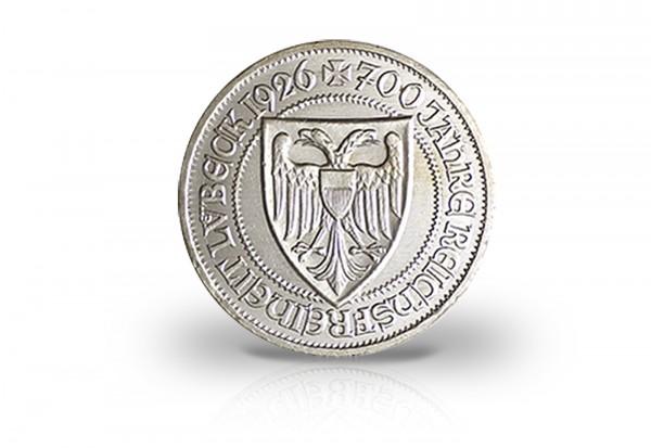 3 Reichsmark 1926 Weimarer Republik 700. Jahre Reichsfreiheit Lübeck Jaeger-Nr. 323