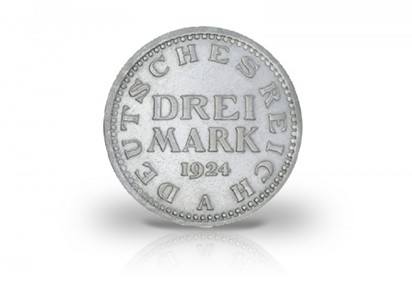 3 Mark 1924-1925 Weimarer Republik Jaeger-Nr. 312
