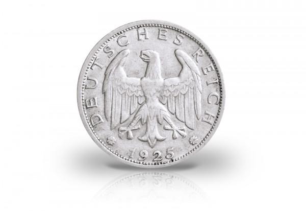 1 Reichsmark 1925-1927 Weimarer Repubulik Jaeger-Nr. 319