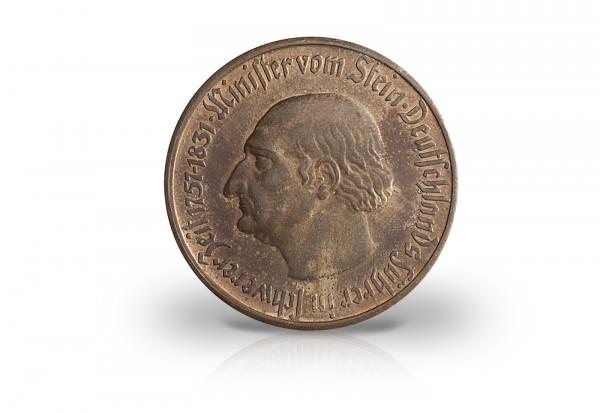 500 Mark Notgeldmünze 1922 Weimarer Republik Westfalen N15 Bronze vergoldet