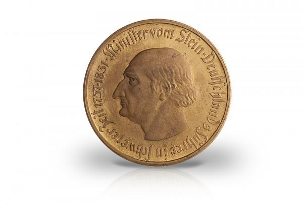 10 000 Mark Notgeldmünze 1923 Weimarer Republik Westfalen N20a Tomb o. Kufp. vergoldet