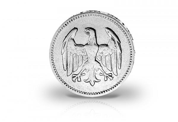 1 Rentenmark Silbermünze 1925 Weimarer Republik Jaeger-Nr. 311