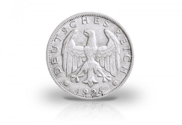 2 Reichsmark 1925 Weimarer Republik Adler Prägestätte unserer Wahl Jaeger-Nr. 320
