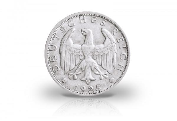 1 Reichsmark 1925 Weimarer Republik Jaeger-Nr. 319