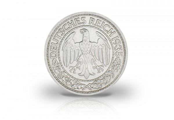 50 Pfennig 1927-1938 Weimarer Republik Jaeger-Nr. 324