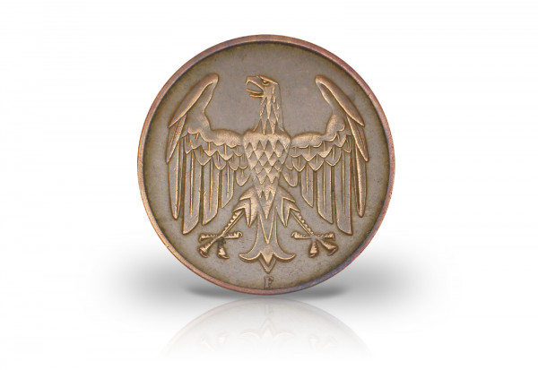 4 Pfennig 1932 Weimarer Republik Brüningtaler Prägestätte A Jaeger-Nr. 315