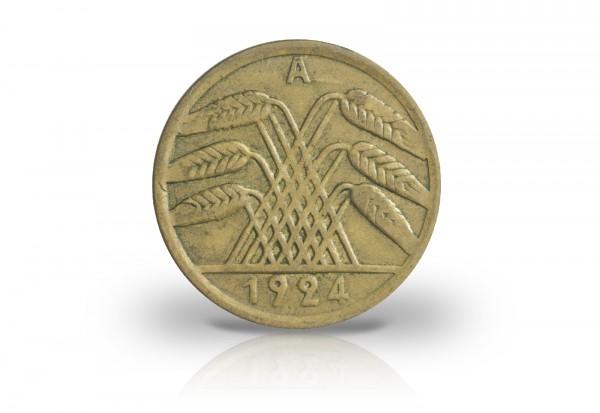 50 Rentenpfennig 1923-1924 Weimarer Republik Jaeger-Nr. 310