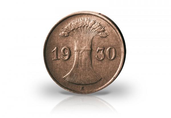 1 Reichspfennig 1924-1936 Weimarer Republik Jaeger-Nr. 313