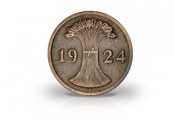 2 Rentenpfennig 1923-1924 Weimarer Republik Jaeger-Nr. 307