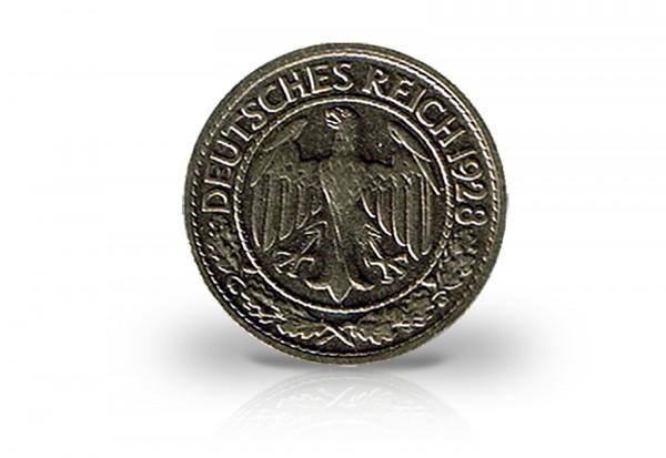 Weimarer Republik 50 Reichspfennig 1927-1938