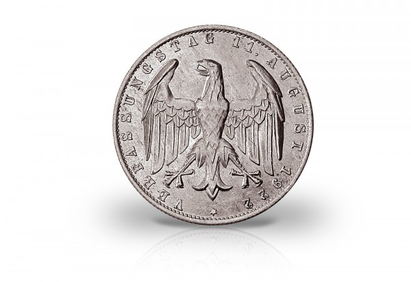 3 Mark 1922-1923 Weimarer Republik Jaeger-Nr. 303