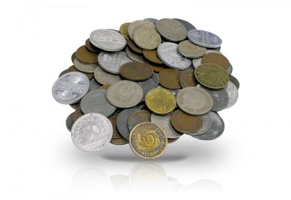 100 Gramm Originalmünzen des Deutschen Reiches