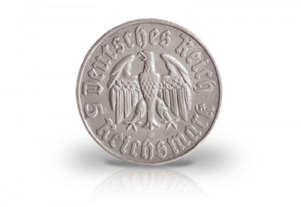 5 Reichsmark 1933 Drittes Reich Martin Luther Jaeger-Nr. 353