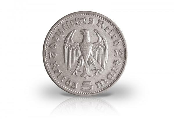 5 Reichsmark 1933-1936 Drittes Reich Hindenburg Jaeger-Nr. 360