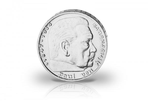 2 Reichsmark 1935-1939 Drittes Reich Der erste Ersatzkaiser Jaeger-Nr. 366