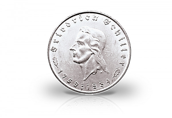 5 Reichsmark 1934 Drittes Reich Schiller