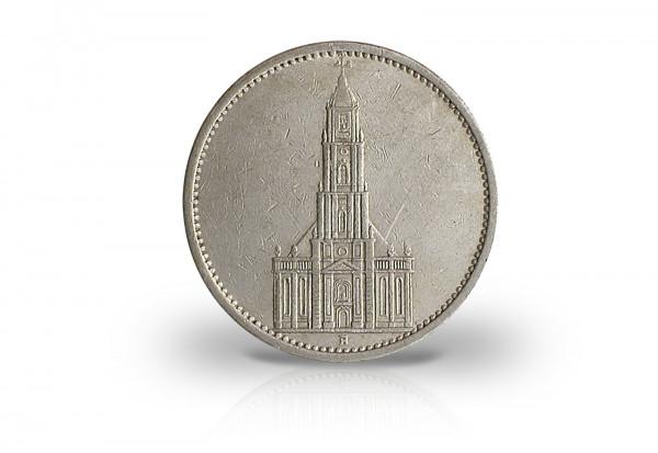 5 Reichsmark 1934-1935 Drittes Reich Garnisonkirche ohne Datum Jaeger-Nr. 357