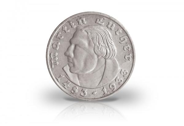 2 und 5 Mark Silber Set 1933 Drittes Reich Deutsche Persönlichkeiten I. Martin Luther