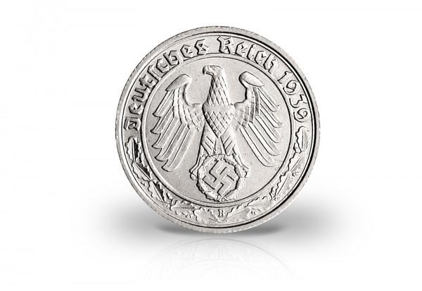 50 Reichspfennig 1938-1939 Drittes Reich Jaeger-Nr. 365