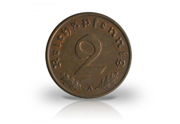 2 Reichspfennig 1936 Drittes Reich Jaeger-Nr. 362