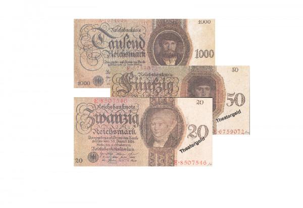 Faksimiles v. Reichsbanknoten der Serie 1924