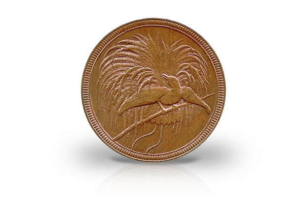 10 Pfennig 1894 Deutsch-Neuguinea mit Paradiesvogel Jaeger-Nr. 703