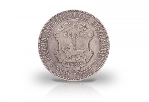 2 Rupie 1893 Deutsch-Ostafrika Kaiser Wilhelm II. Jaeger-Nr. 714