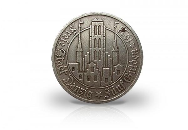 Danzig 5 Gulden Silbermünze 1923