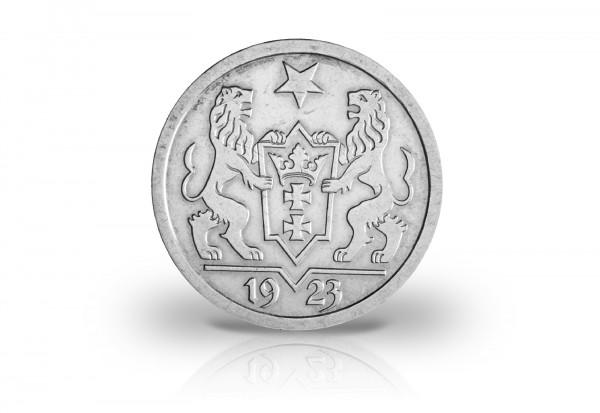 2 Gulden Silber 1923 Danzig Wappen Jaeger-Nr. D8