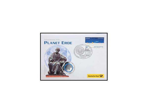 Numisbrief Planet Erde 2016 Kuvert leer deutsche Post