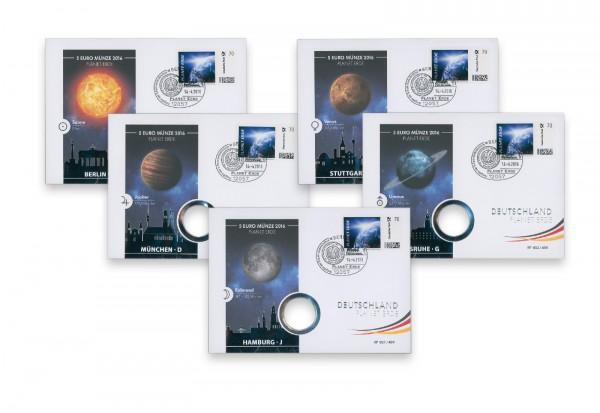 Numisbrief 2016 Planet Erde A-J PP ohne Münzen