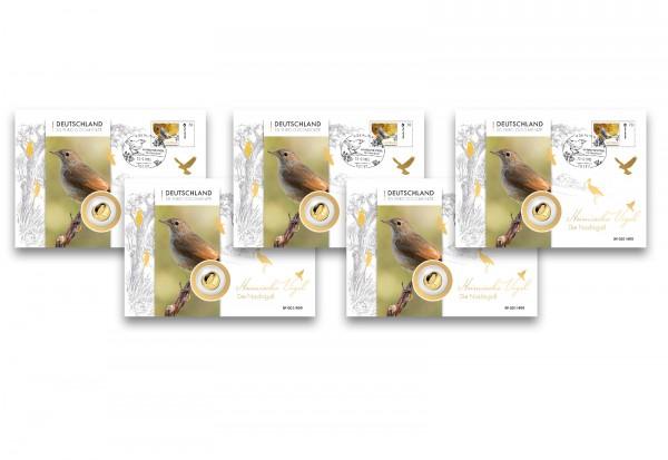 Kuverts für Nachtigall 20 Euro Gold Numisbrief im 5er Set
