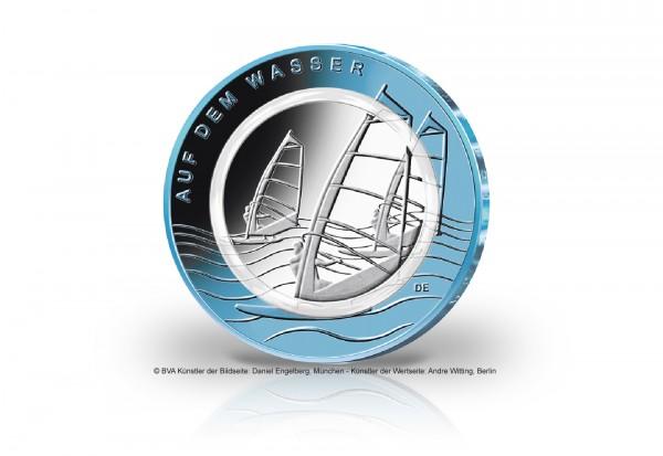 10 Euro 2021 Deutschland Auf dem Wasser mit Polymerring im Numisbrief Prägestätte unserer Wahl