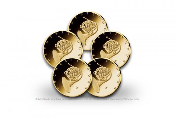 50 Euro Goldmünze 2020 Deutschland Orchesterhorn Prägestätte A-J