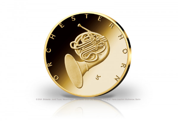 50 Euro Goldmünze 2020 Deutschland Orchesterhorn Prägestätte J