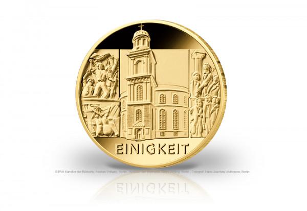 100 Euro Goldmünze 2020 Deutschland Säulen der Demokratie Einigkeit Prägestätte F
