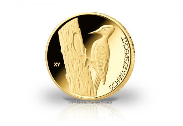 20 Euro Goldmünze 2021 Deutschland Der Schwarzspecht Prägestätte J