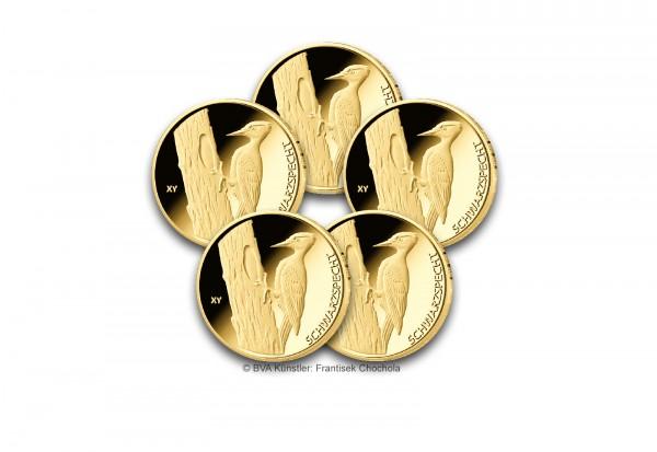 20 Euro Goldmünze 2021 Deutschland Der Schwarzspecht Prägestätte A-J