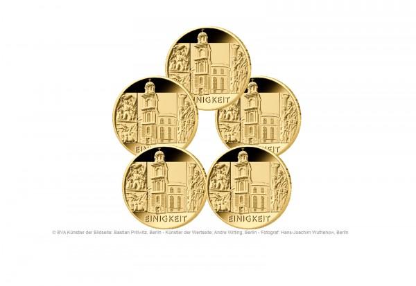 100 Euro Goldmünze 2020 Deutschland Säulen der Demokratie Einigkeit Prägestätte A-J