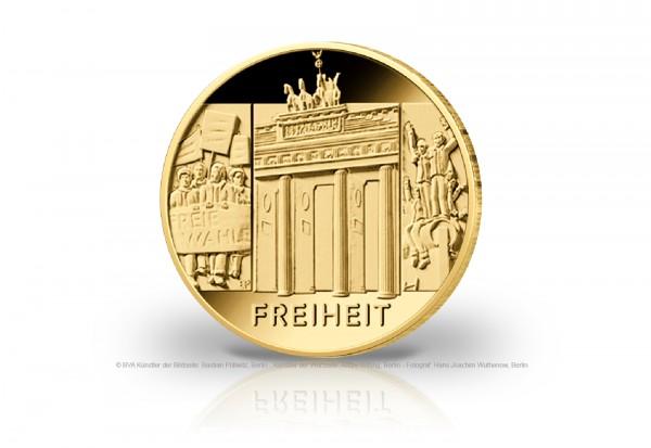 100 Euro Goldmünze 2022 Deutschland Säulen der Demokratie Freiheit Prägestätte unserer Wahl