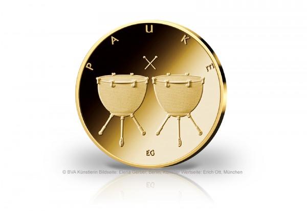 50 Euro Goldmünze 2021 Deutschland Pauke Prägestätte unserer Wahl