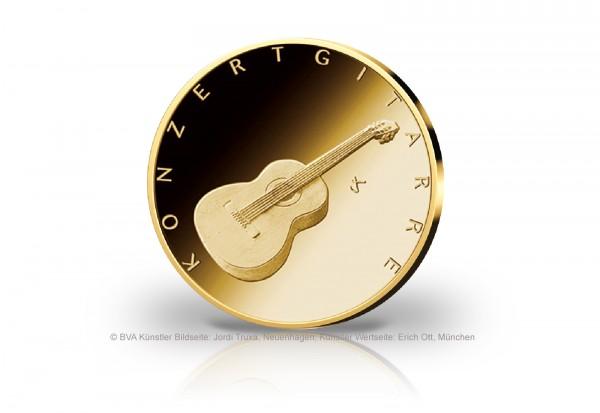 50 Euro Goldmünze 2022 Deutschland Konzertgitarre Prägestätte unserer Wahl