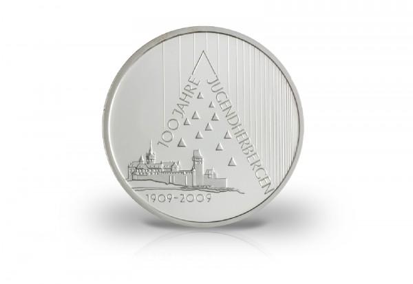 10 Euro Silberünze 2009 Deutschland 100 Jahre Jugendherbergen st