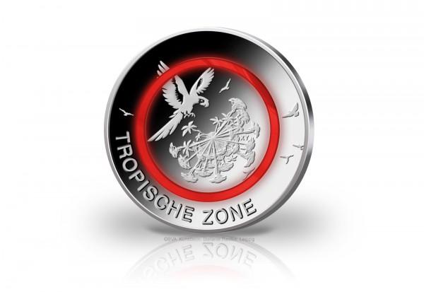 Münzrolle 5 Euro 2017 Deutschland Tropische Zone mit rotem Polymerring st Prägestätte F